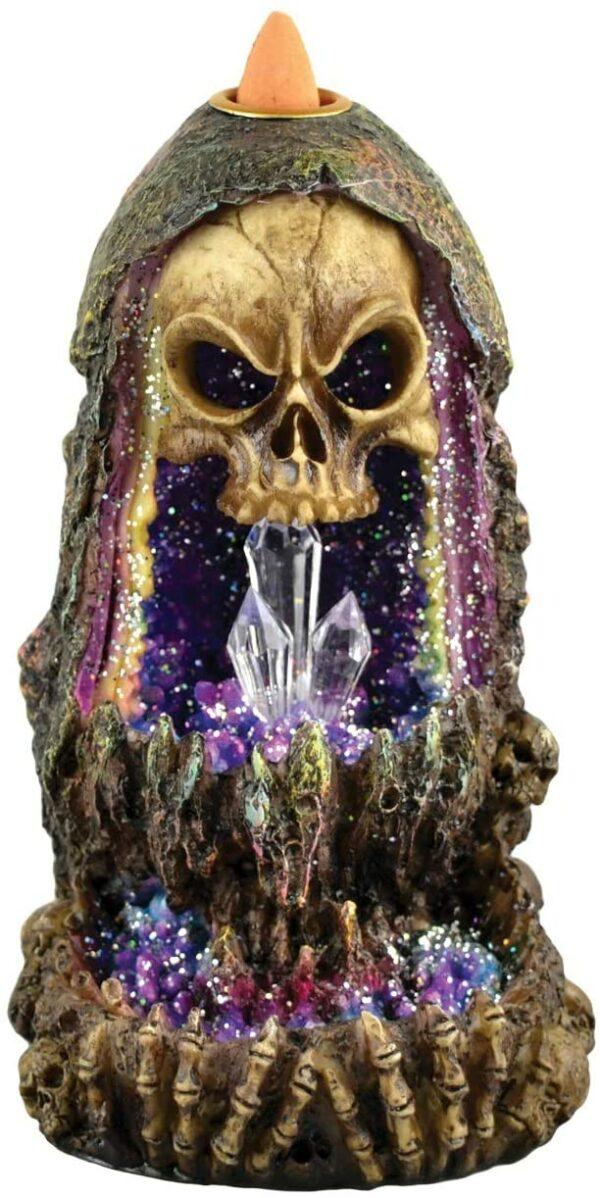 Skull Crystal Incense Burner