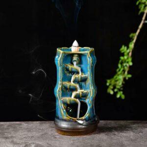 Bamboo Waterfall Incense Burner