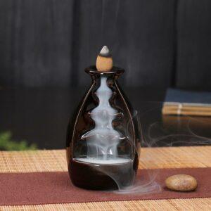 Black Sake Waterfall Incense Burner