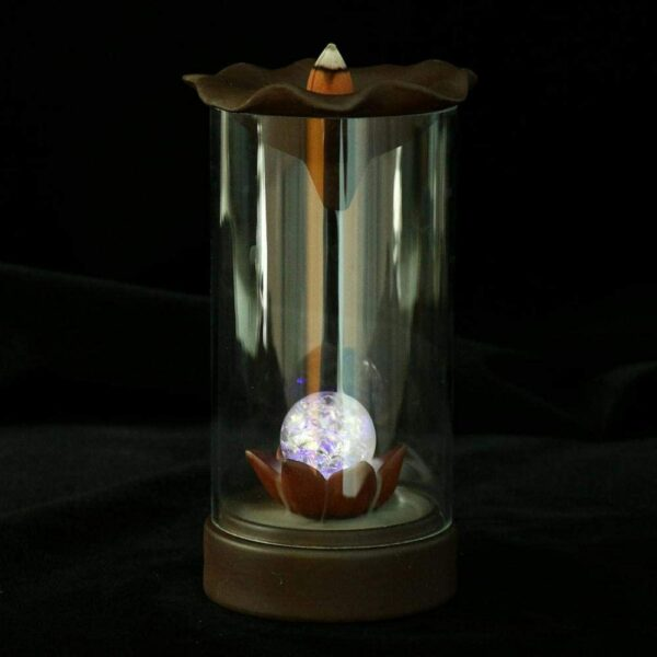 Incense Waterfall Burner with LED Lighting