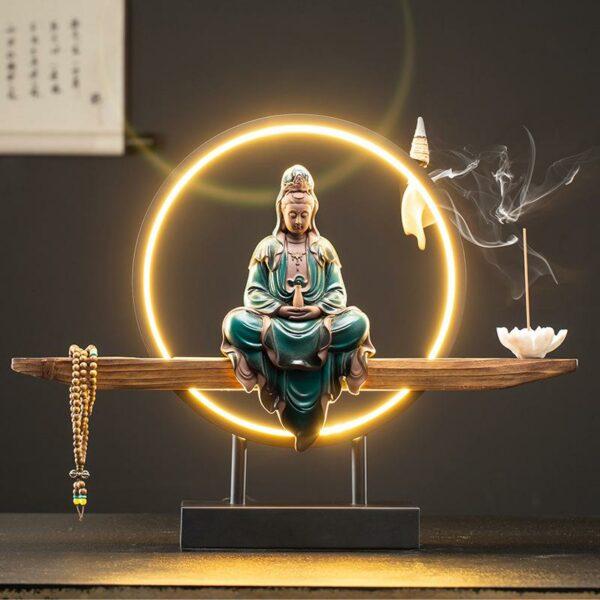 Buddha Incense Waterfall Burner