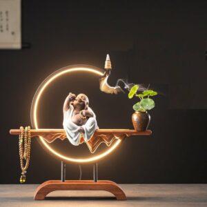 LED Buddha Backflow Incense Burner